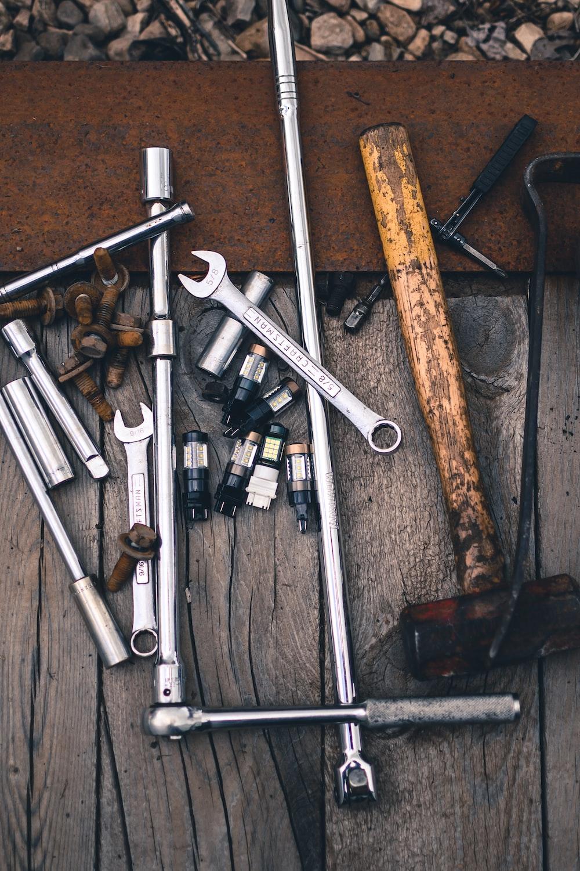 grey hand tool lot