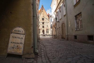 street in city estonia zoom background