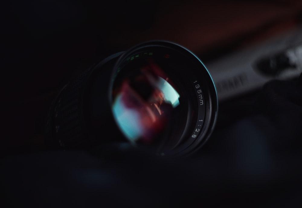black and gray camera lens