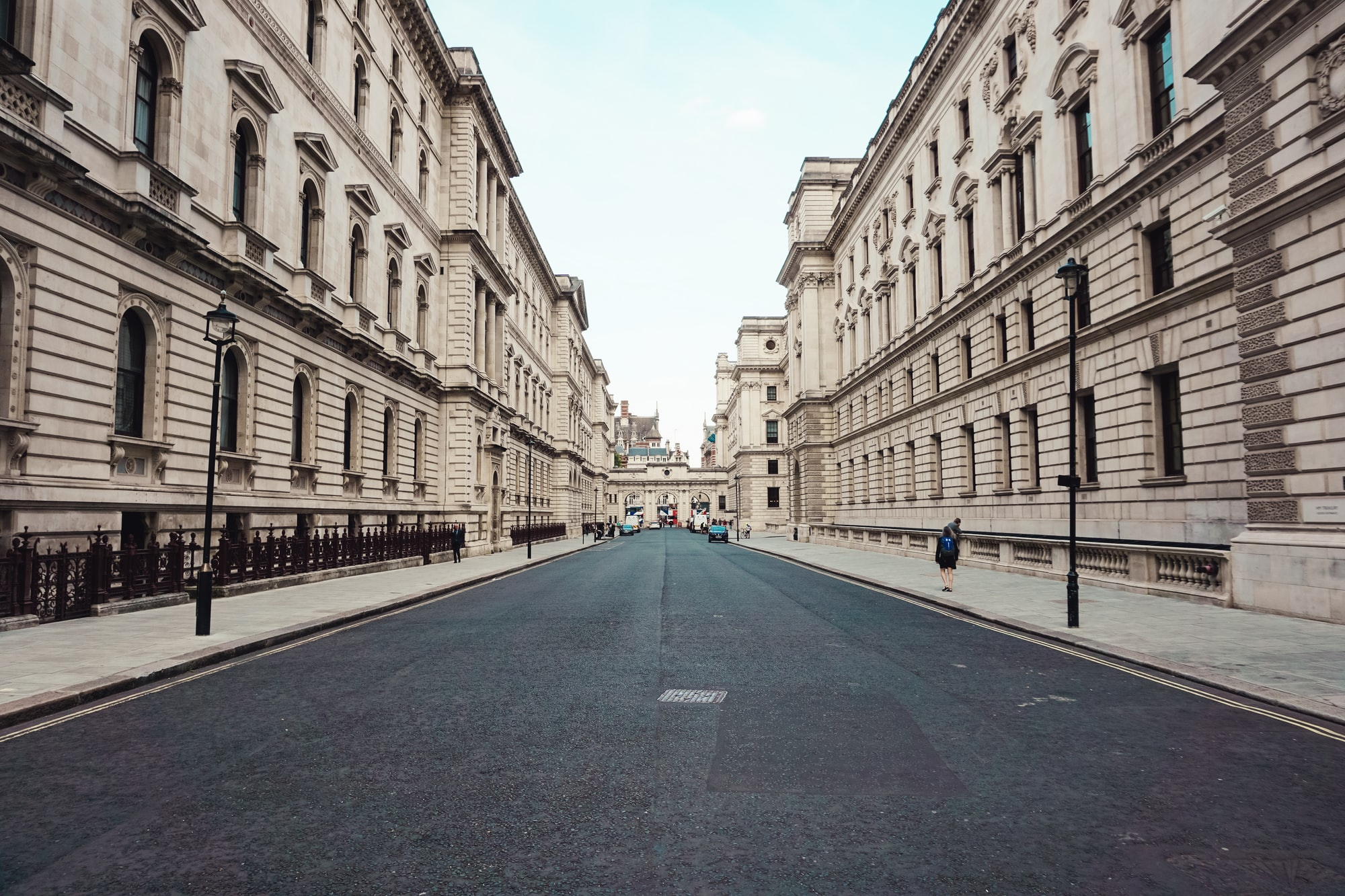 Walking through the King Charles St in the center of London.