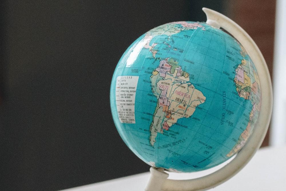close-up photo of desk globe