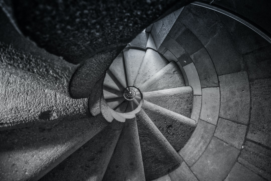 Tower staircase in the Sagrida Famila, Barcelona