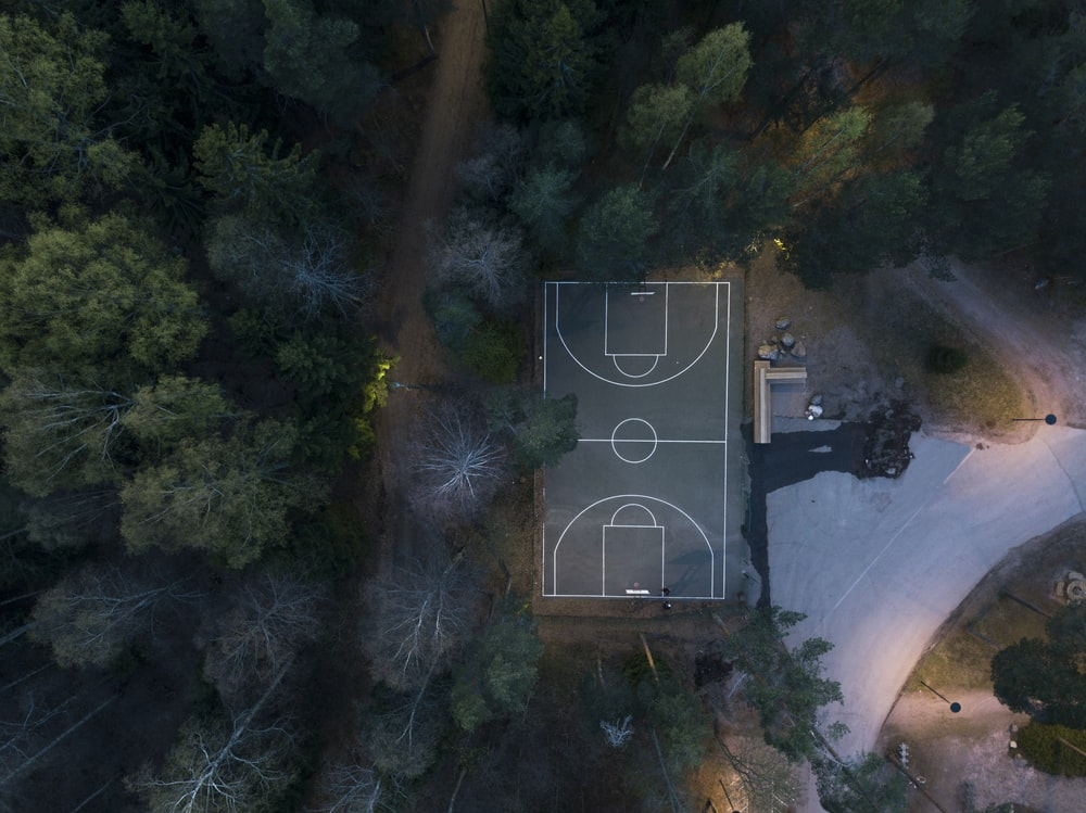 aerial photography of sports field