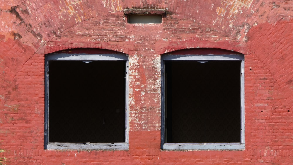 two opened windows