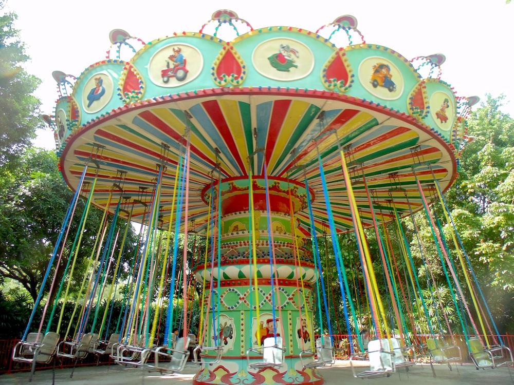 multicolored carousel ride