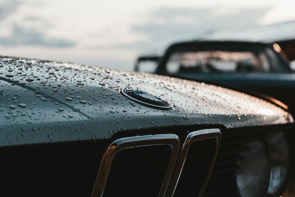 black BMW car