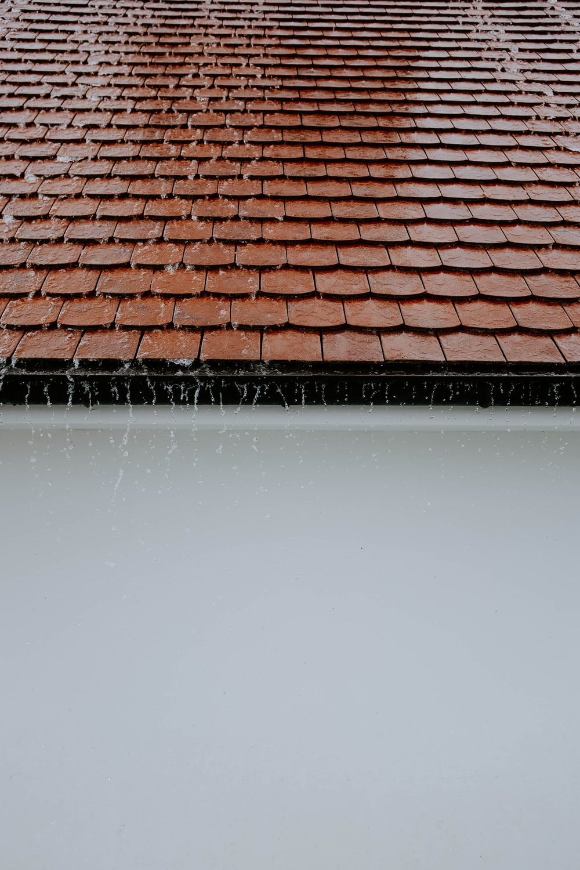 rain water on roof