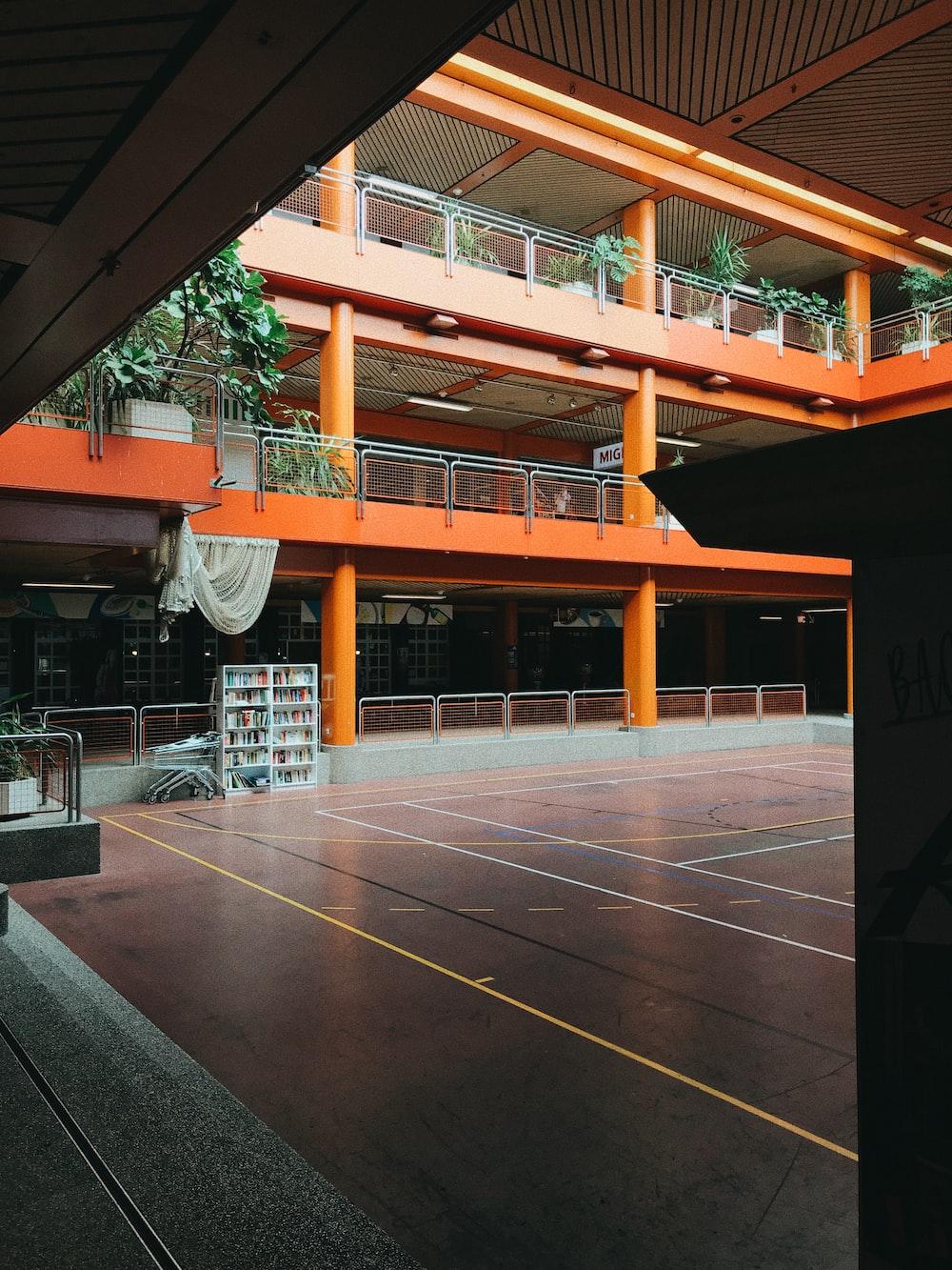 orange concrete building with no people