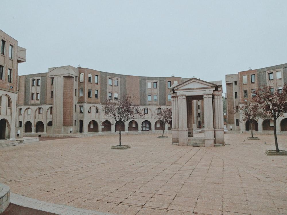 empty European-styled plaza during daytime
