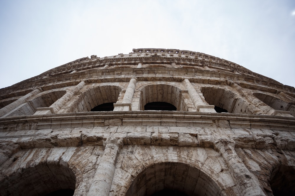 low-angle photography of The Colosseum