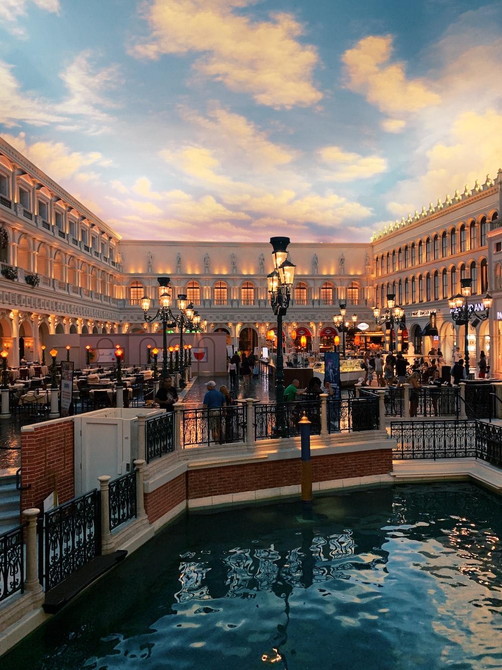 people near railings inside Venetian Macau