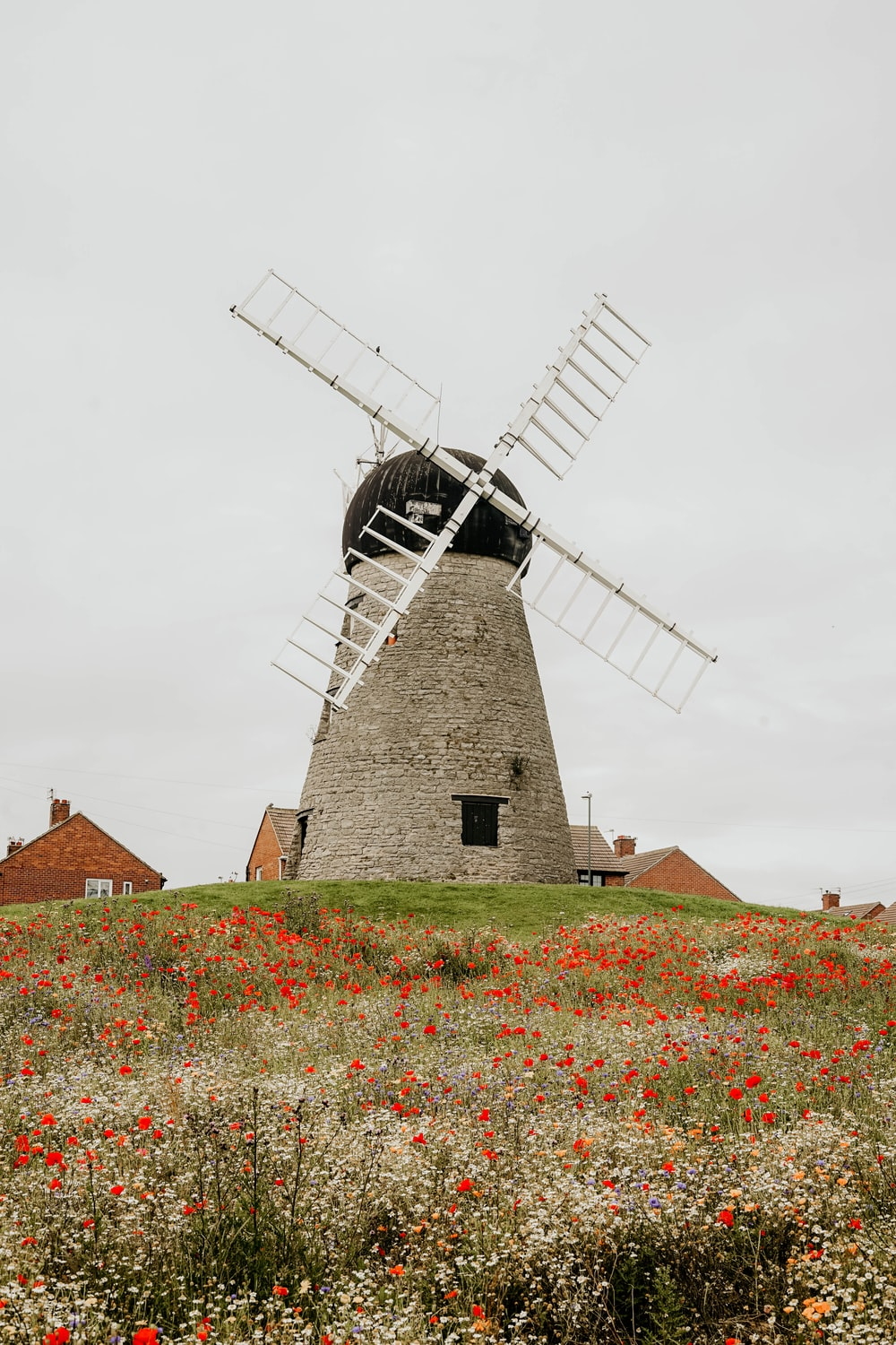 white wind mill tower