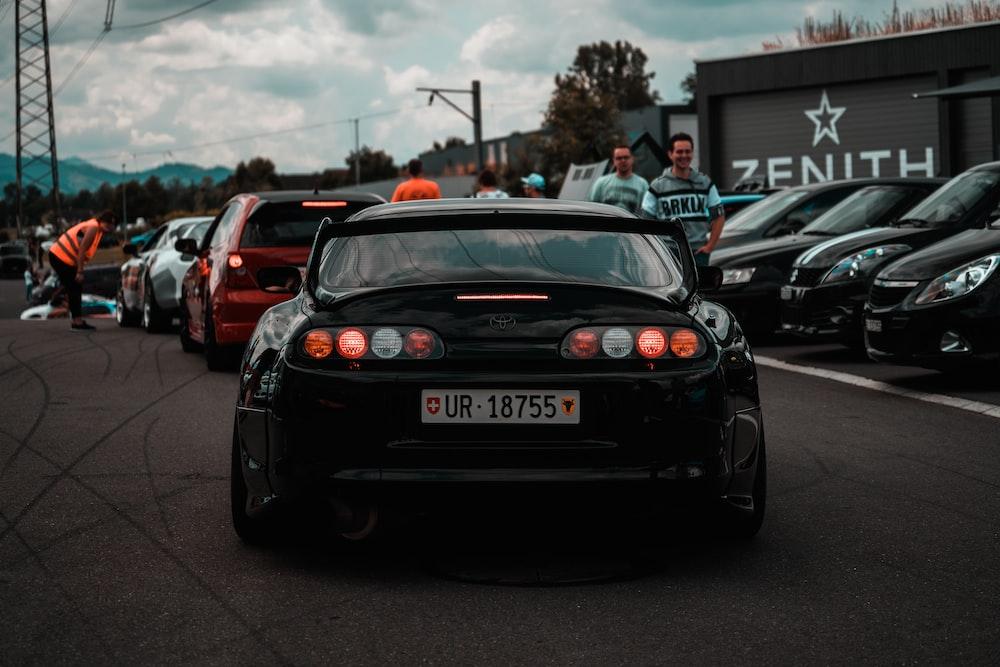 black Toyota vehicle