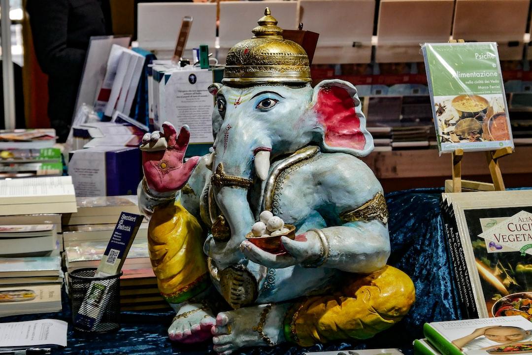 Statua raffigurante Ganesha, foto scattata alla fiera dell'oriente a Bologna fiere.