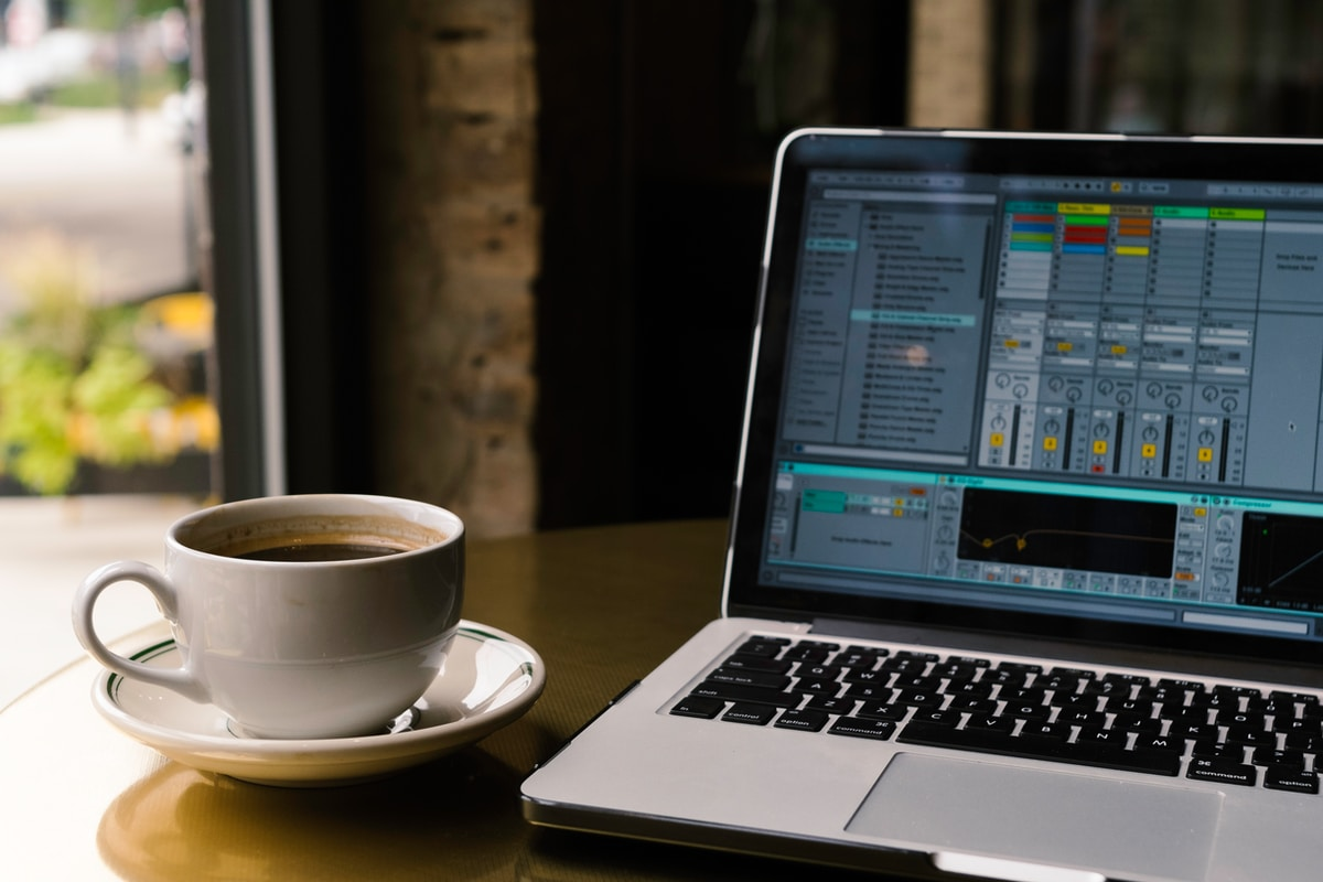 Ableton Live and a cup of coffee
