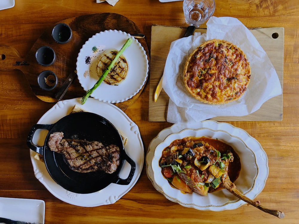 variety of cooked food