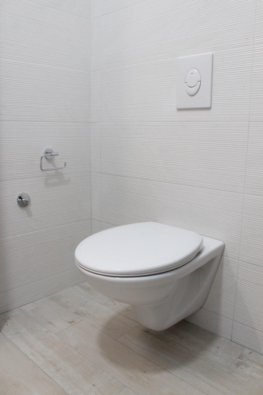 white flush toilet