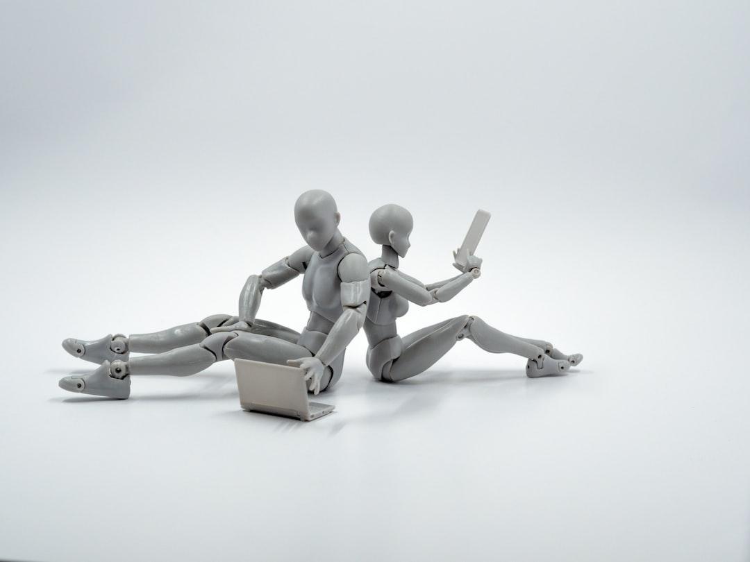 Robots looking at digital media