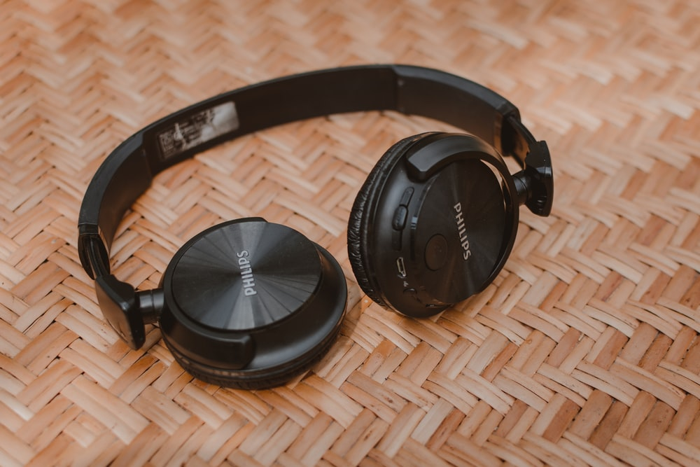 black Philips headphones