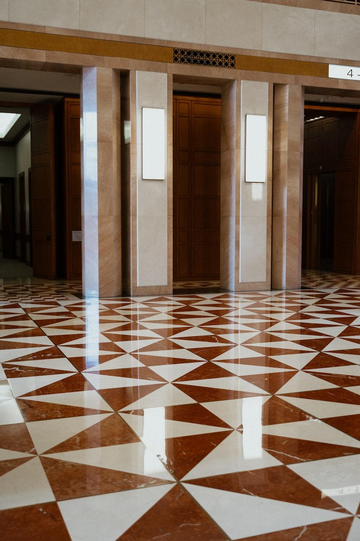 open elevator inside building