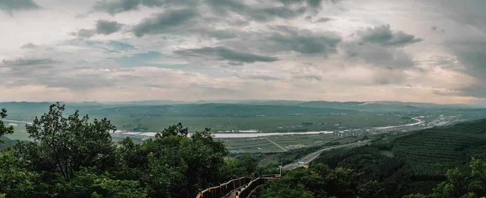 landscape photo of a distant river