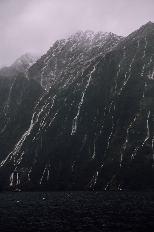 black mountain cliff