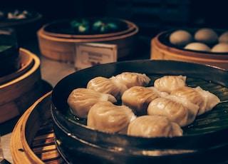 dumplings on steamer