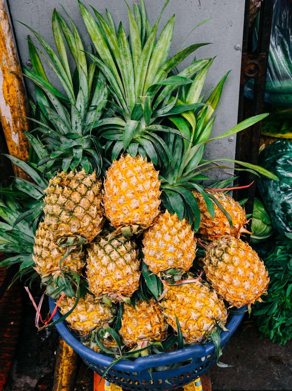 Image result for pineapples in basket""