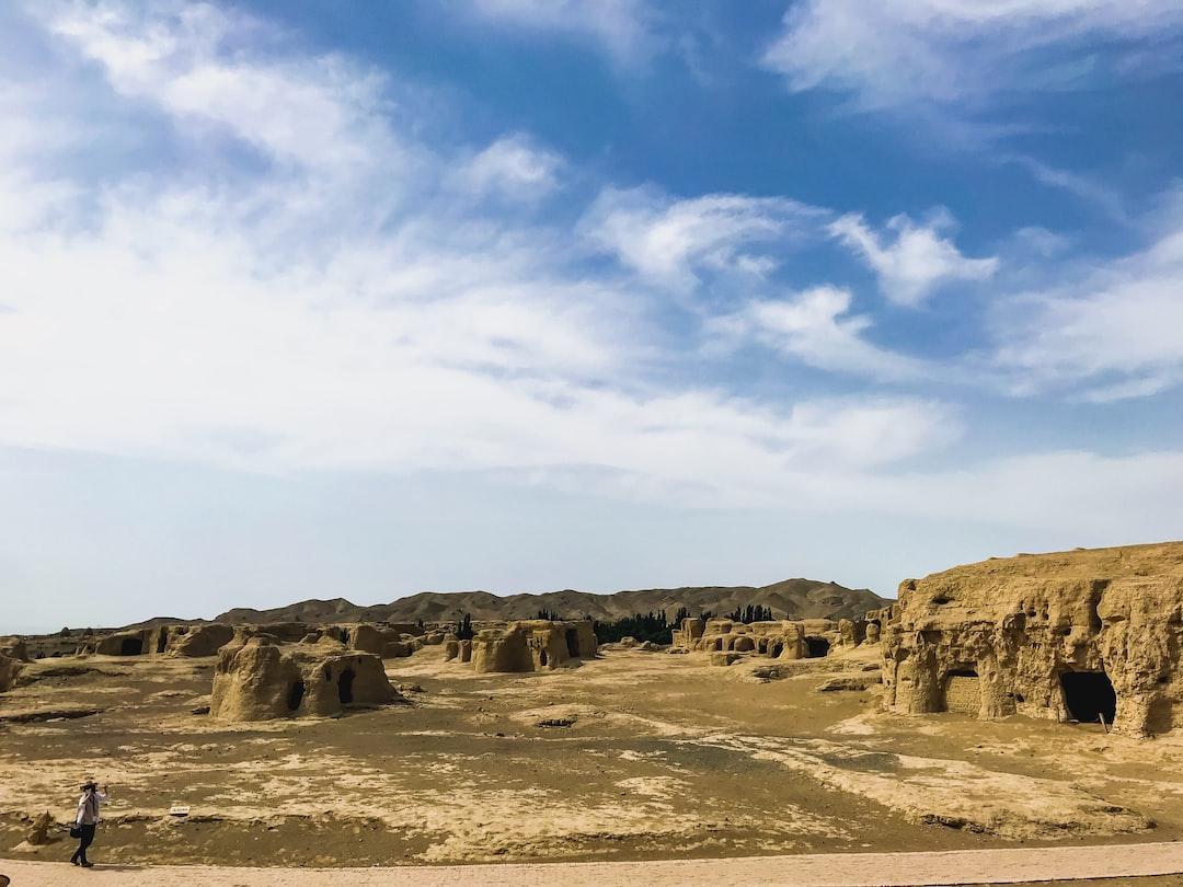 The ruins of Jiaohe in Xinjiang.