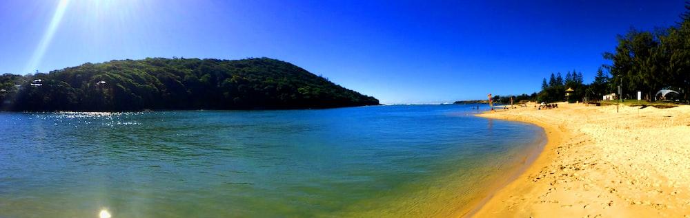 panoramic photo of beach during daytime