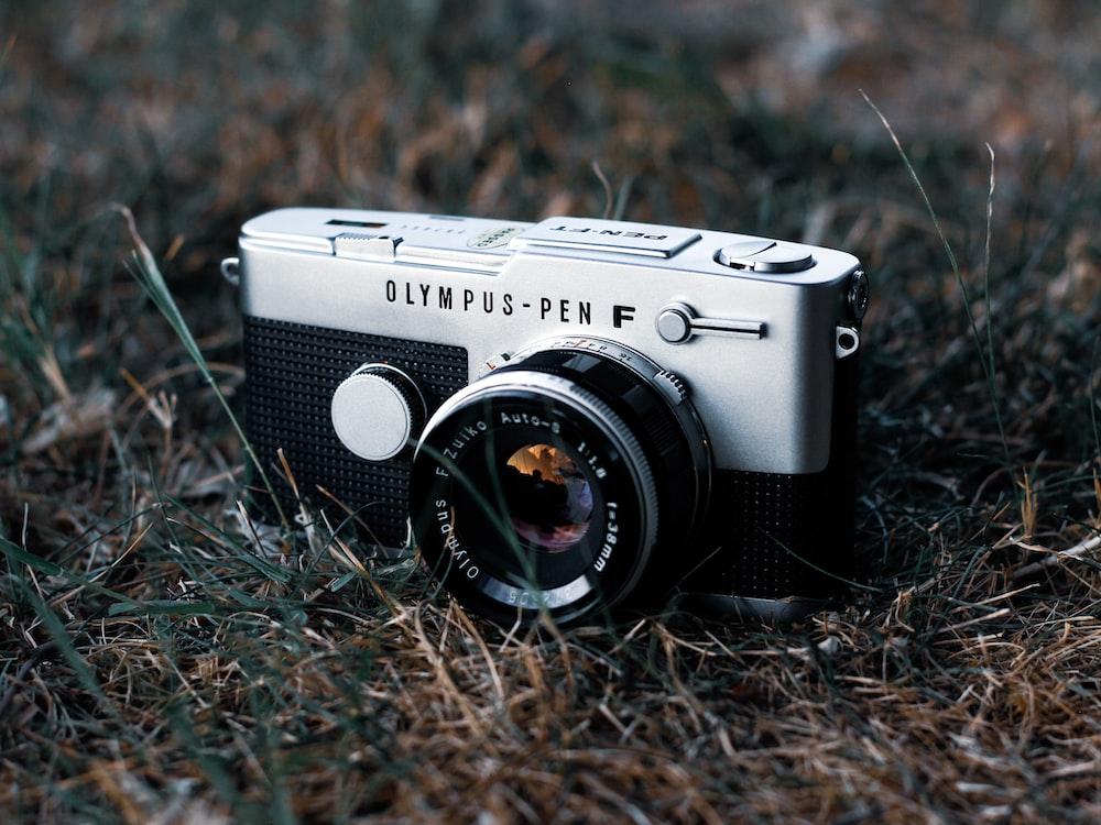 gray compact camera