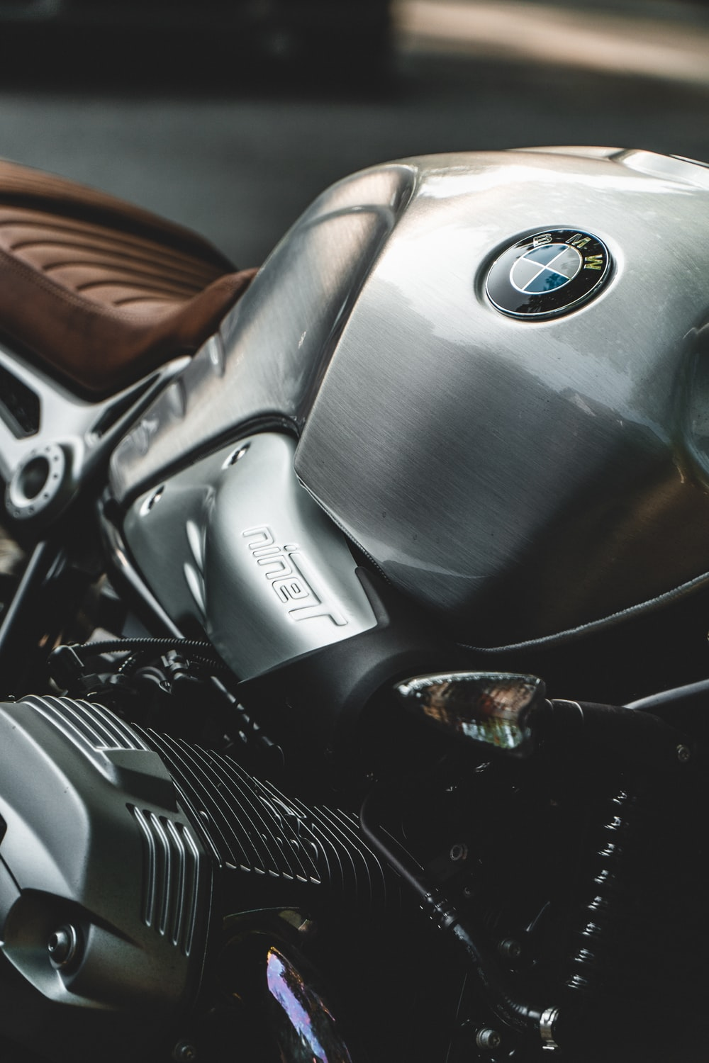 black BMW motorcycle