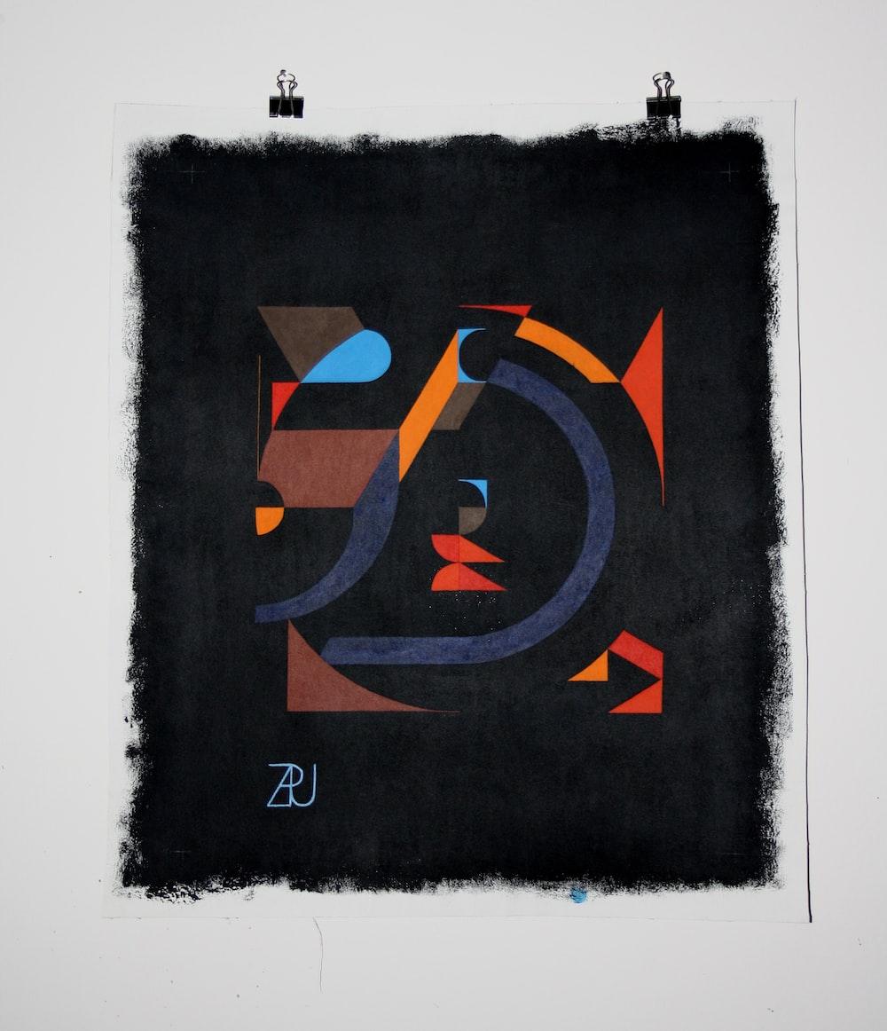 black and orange board