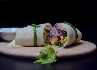 wrapped food