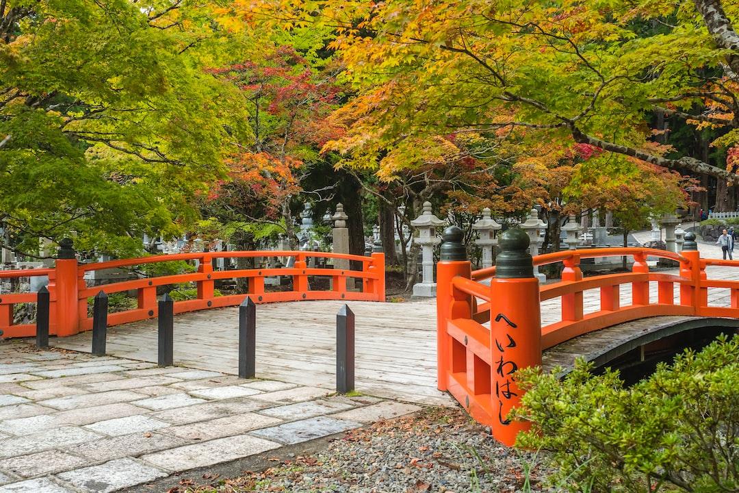 Eireiden temple with cemetery area near Koyasan (Mt Koya) in Wakayama, Japan