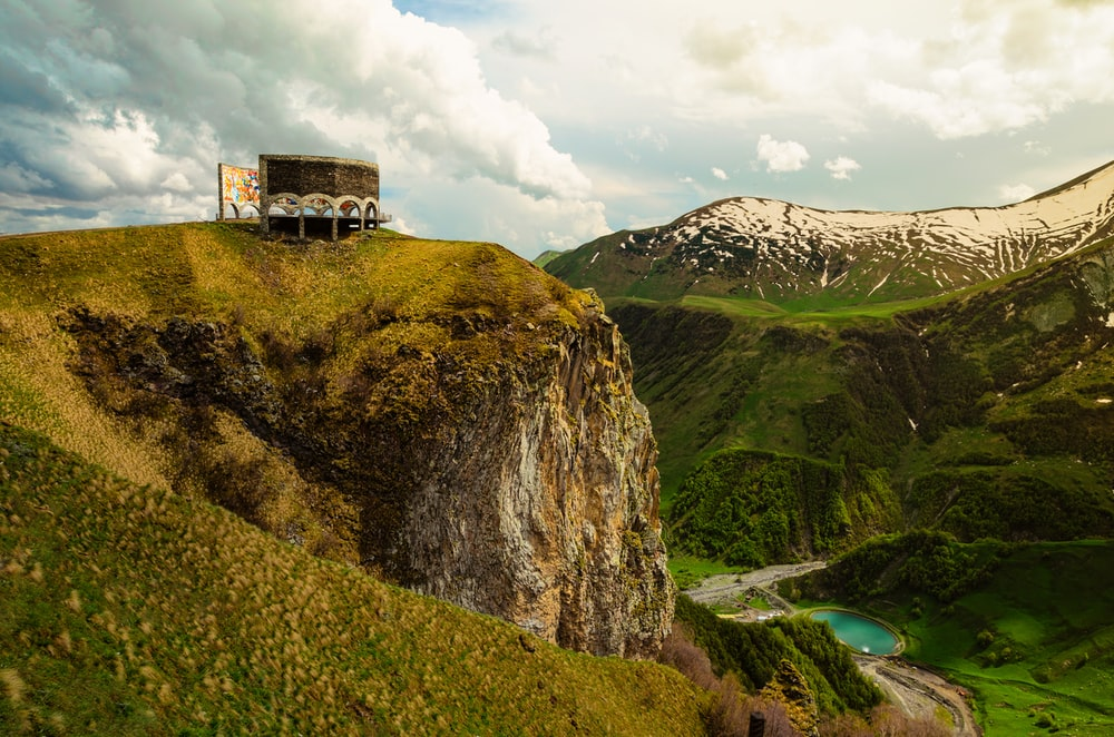 brown and green cliff