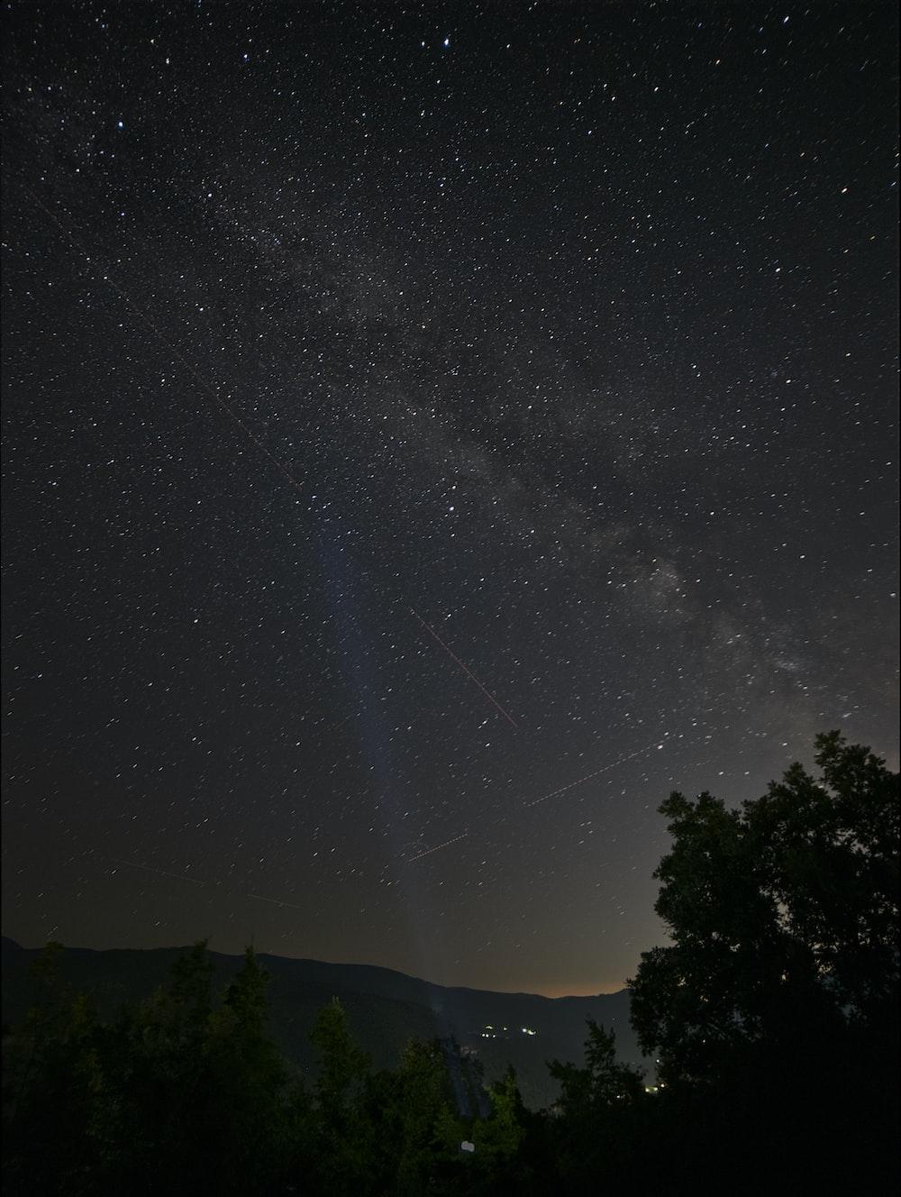 photo of milky way at night