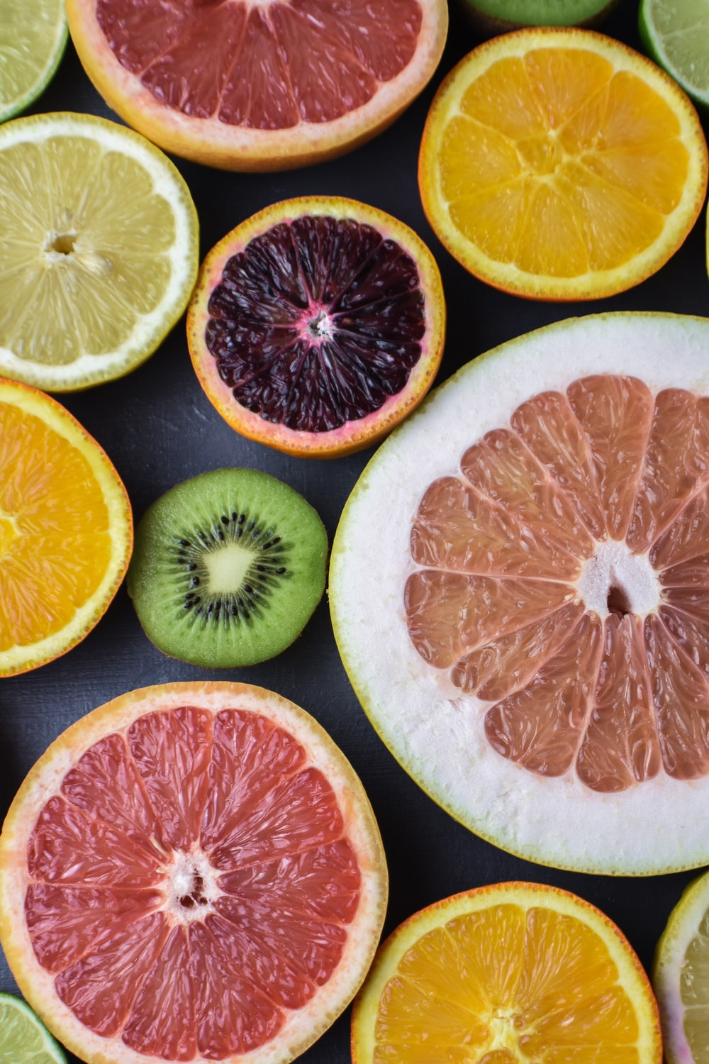 variety of sliced fruits