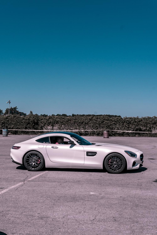 white Mercedes-Benz coupe