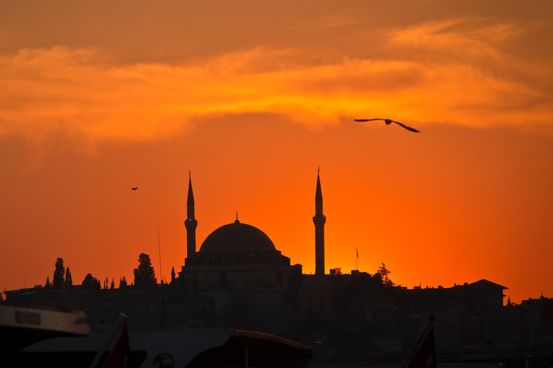 Grand Mosque at Sunset in Istanbul, Turkey