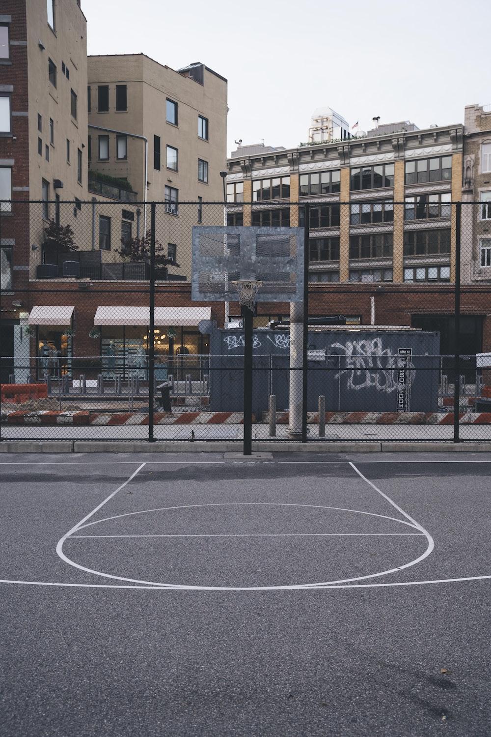 grey basketball system
