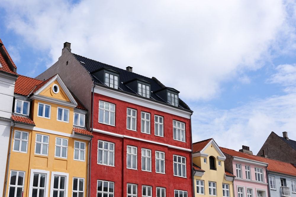 low angle photo of buildings