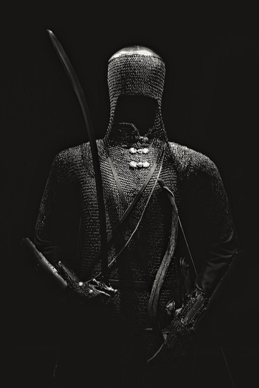 grey chain body armor
