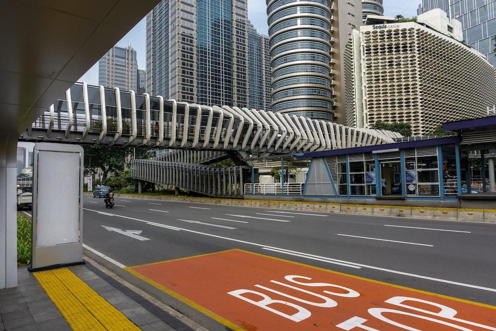 Bus Stop asphalt sign