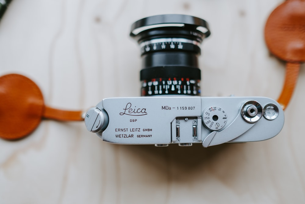 gray Leica camera