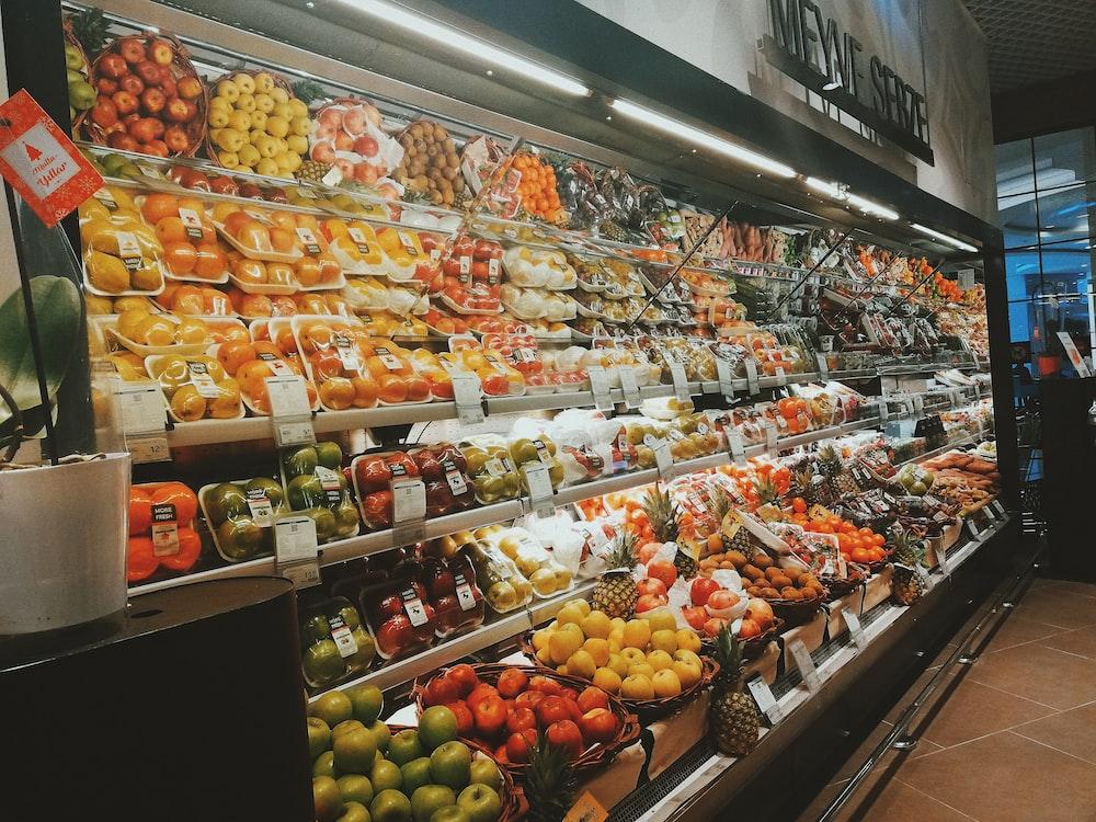 fruit display in groceries