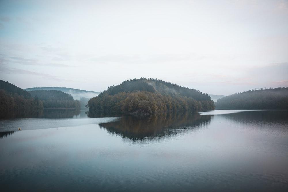 lake and island