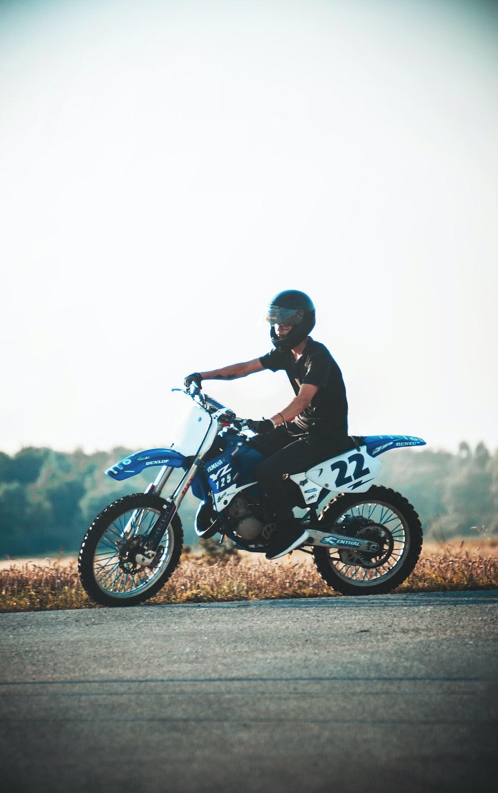 man riding dirt bike