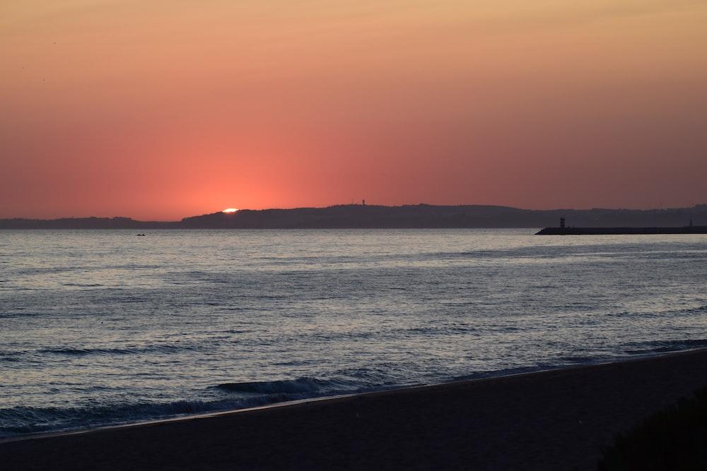 seashore sunset scenery