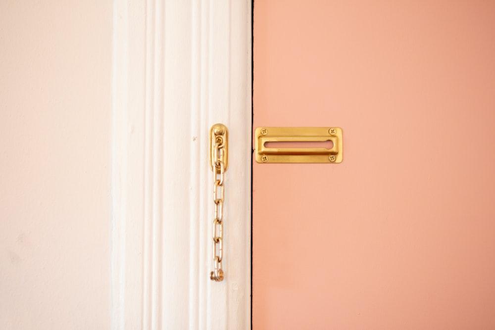 brown door lock